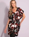 Full Circle Floral Printed Belted Mini Dress.